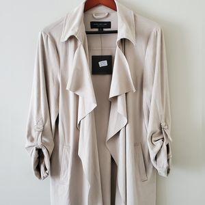 Andrew Marc Faux Suede Duster Jacket